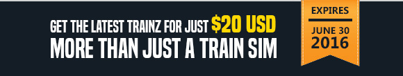 Get the latest trainz for just $20 USD
