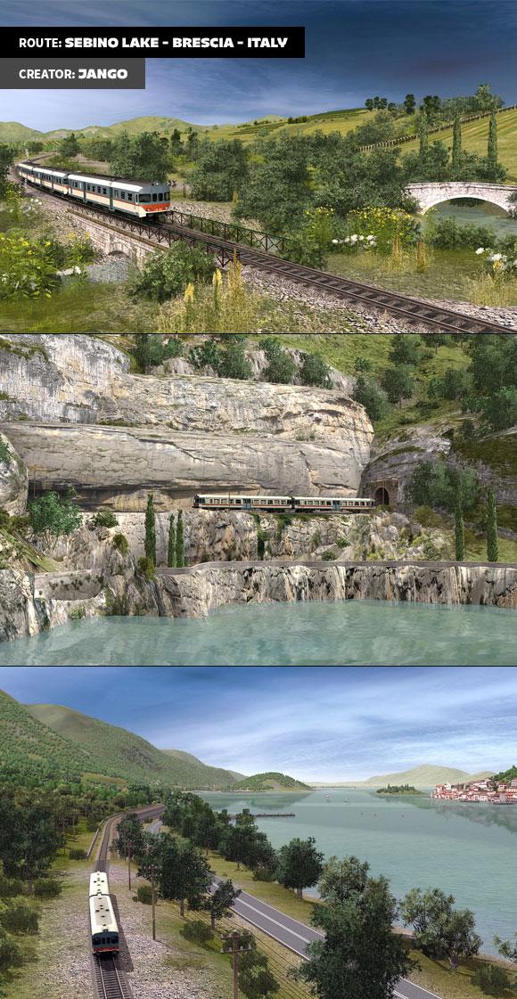 Route: SEBINO Lake - Brescia - Italy